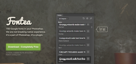 Fontea: Using All Google Fonts in Photoshop