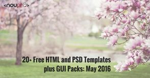 20+ Fresh and Free HTML and PSD Templates plus GUI Packs: May 2016