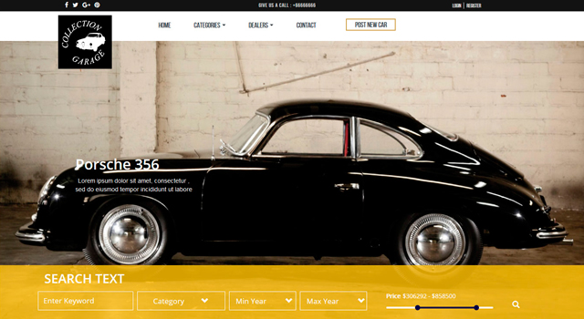 Garage: Amazing Car Dealership Web Template