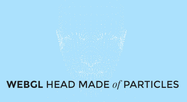head made of particles