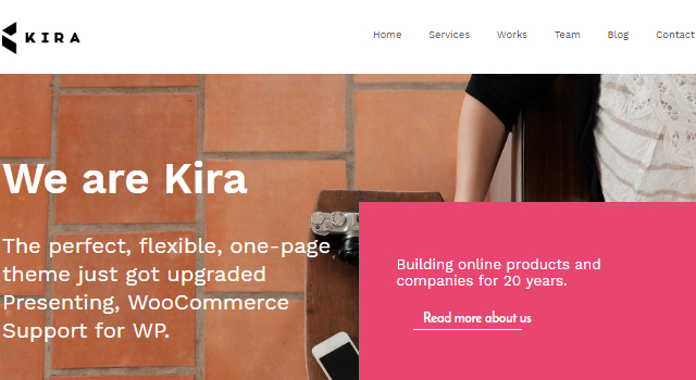 Kira Lite: Creative Agency WordPress Theme