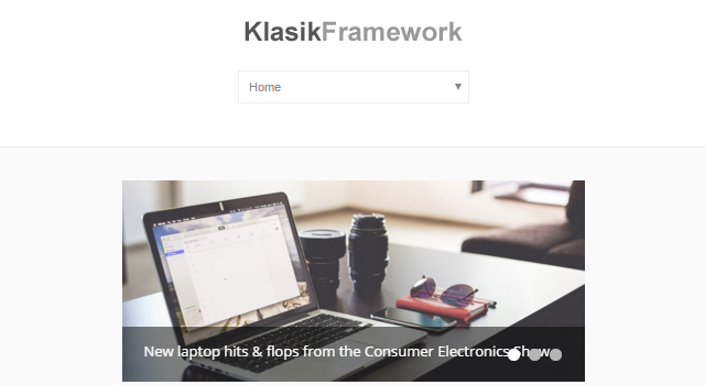 Klasik: Framework-like WordPress Theme