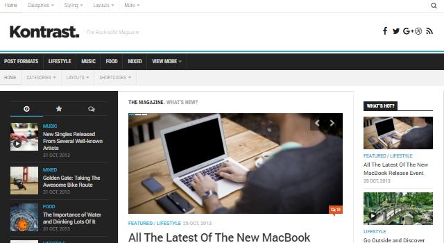 Kontrast: Responsive High Resolution Magazine WordPress Theme
