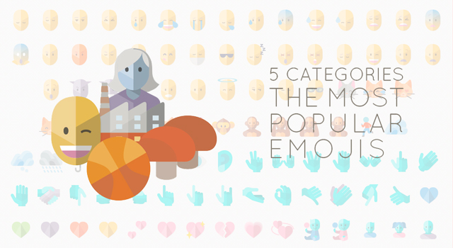 Mobile App Flat Emoji Set