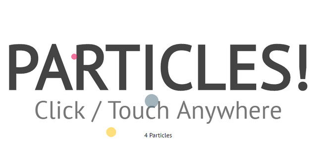 particles fountain