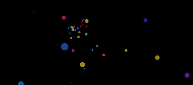 pure css particles animation