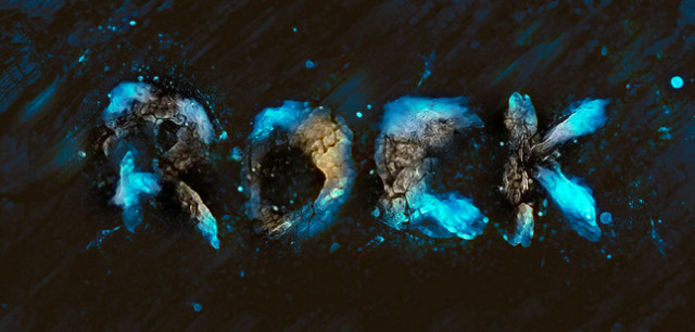 rock styles text effect