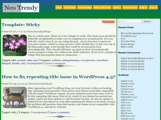 WordPress Theme-Verzeichnis Beispiel 2