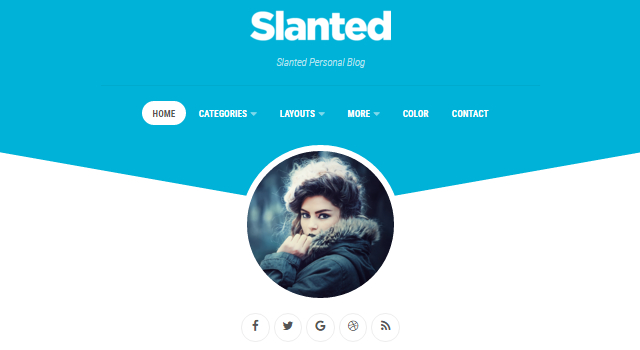 Slanted: Colorful Blogging WordPress Theme