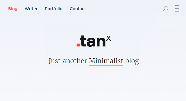 Tanx: Beautiful Blogging WordPress Theme
