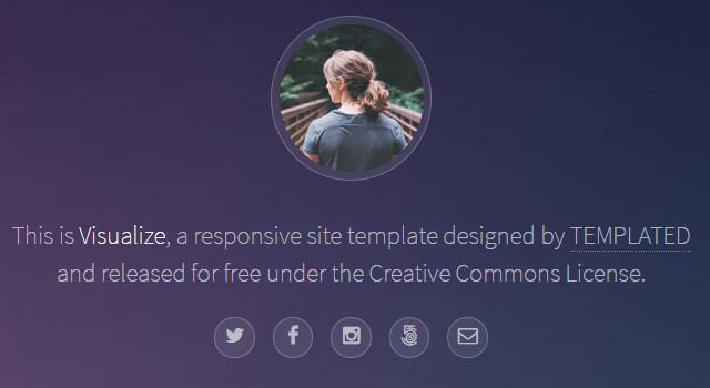 Visualize: Nice Pinterest-like Portfolio Template