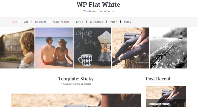 WP Flat White: Clean Blogging WordPress Theme
