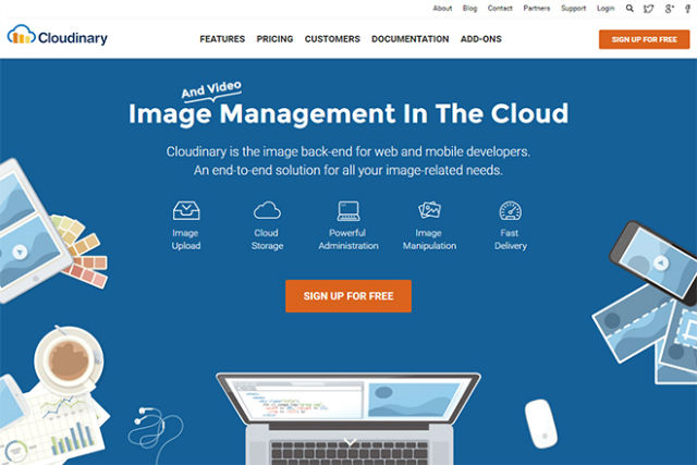 Image Cloud Service Cloudinary