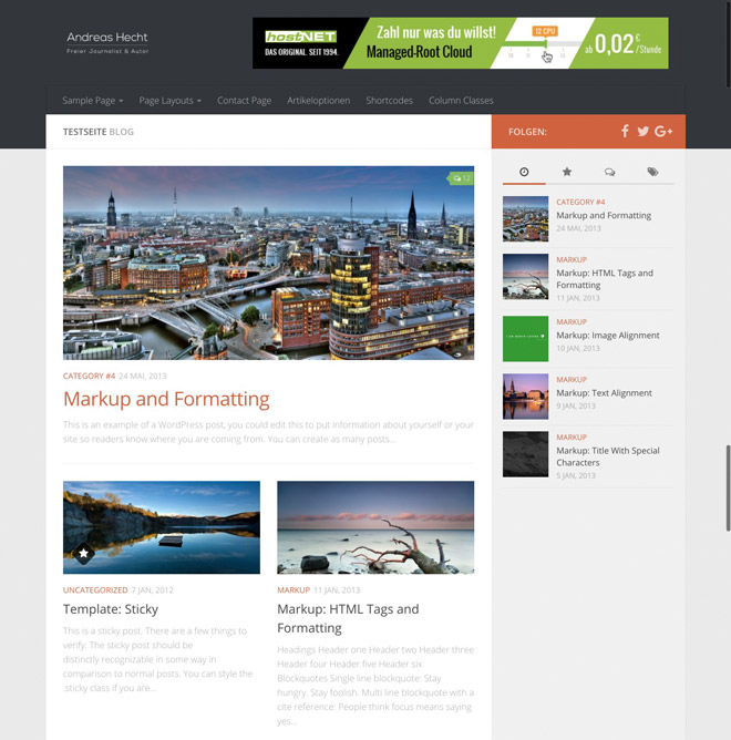 Hueman WordPress Theme: Free and Feature-packed | NOUPE