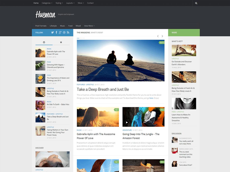 Das Hueman Theme für WordPress