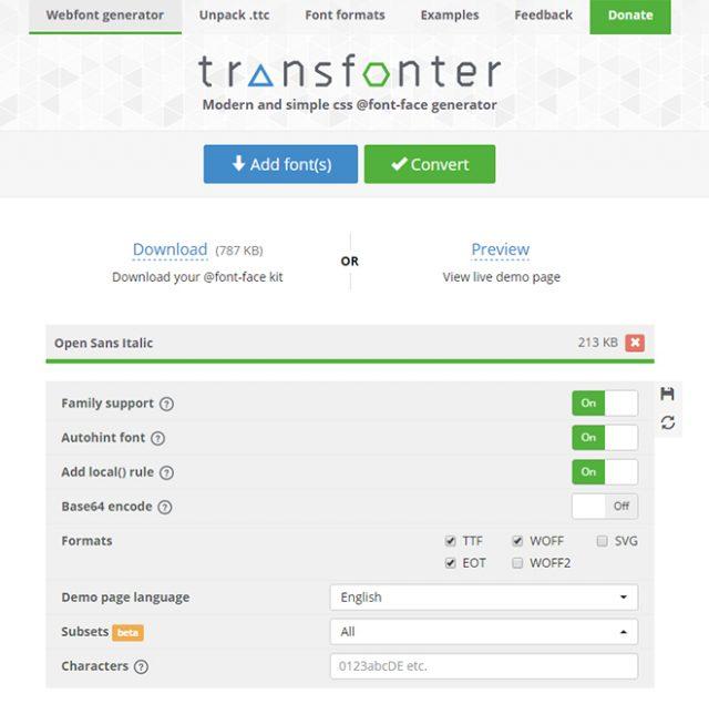 Online Webfont Generators