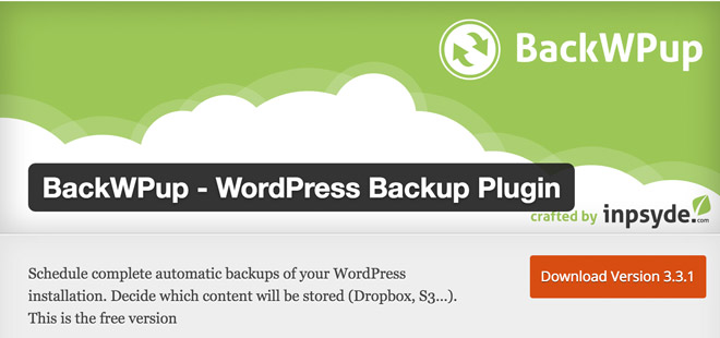 BackWPup WordPress Plugin