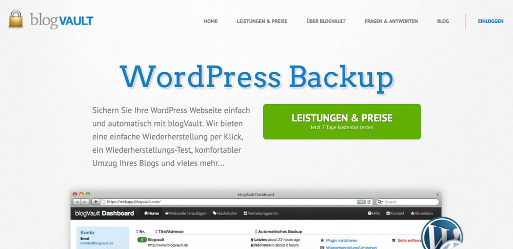 WordPress Backup blogVault
