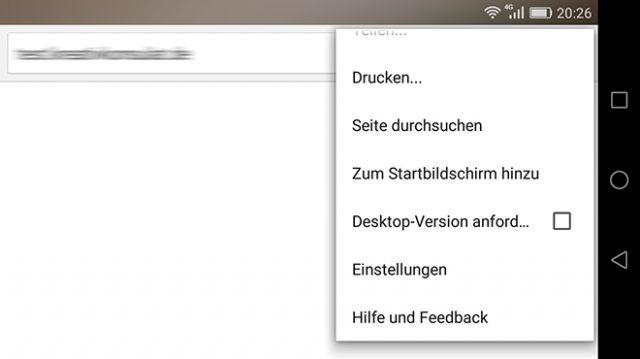 """Chrome und die Funktion """"Zum Startbildschirm hinzufügen"""""""