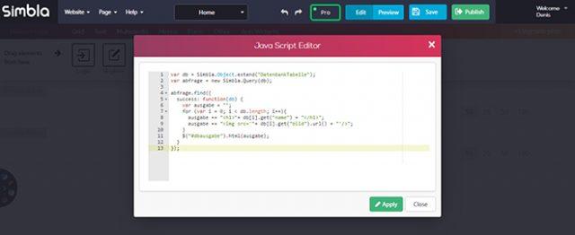 JavaScript Database Request