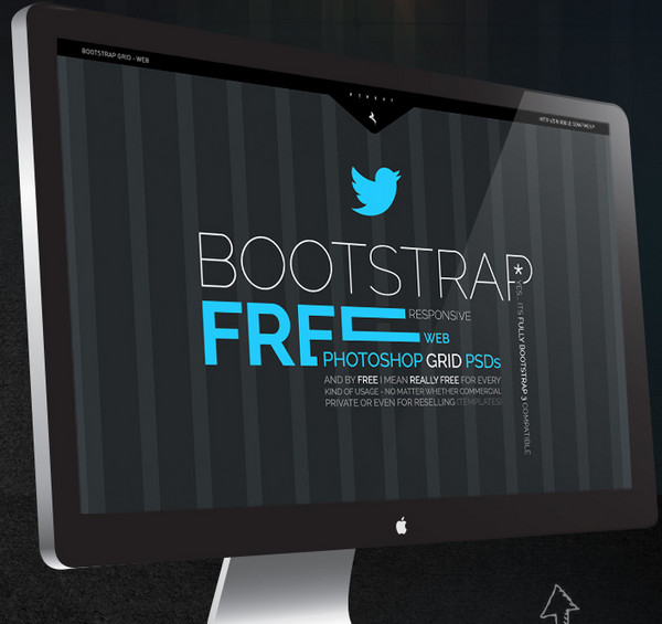 10 Free Bootstrap PSD Grids For Excellent Webdesign
