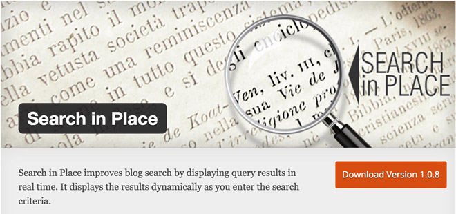 search-in-place