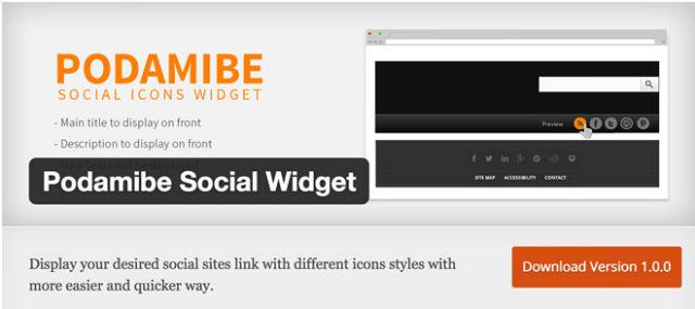 Podamibe Social Widget