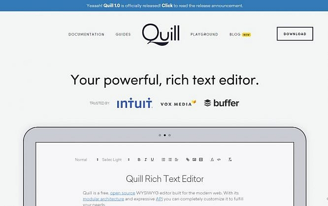 Quill 1 0 - Better Rich Text Editor for Web Apps | NOUPE