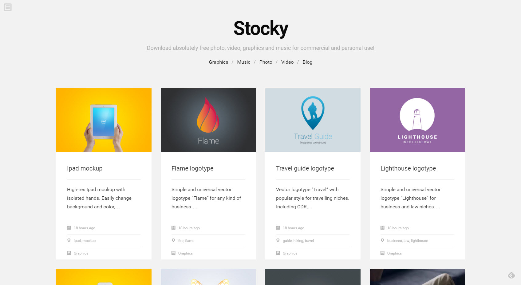Stocky.pro: the Rather Plain, but Appropriate Landing Page