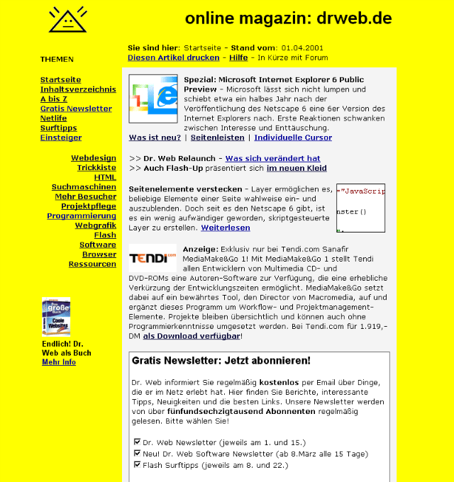 One of the First Versions of Dr. Web in the Internet's Early Days.
