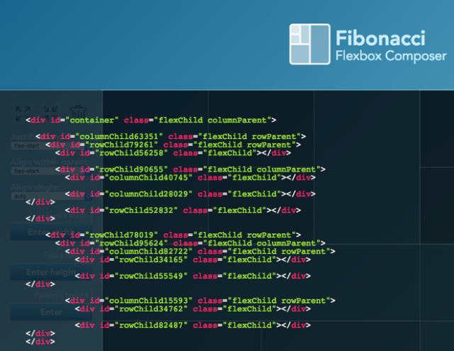 Fibonacci Flexbox Composer Comfortable Tool Makes CSS Flexbox Easy