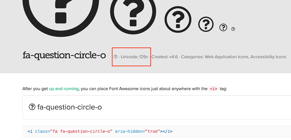 font-awesome-unicode