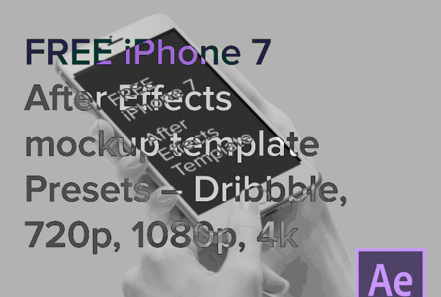 iphone7 after effects