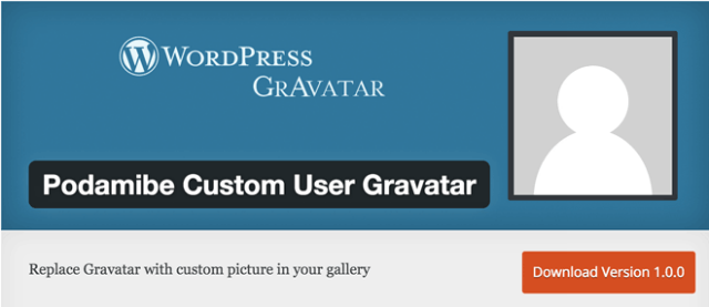 Podamibe Custom User Gravatar