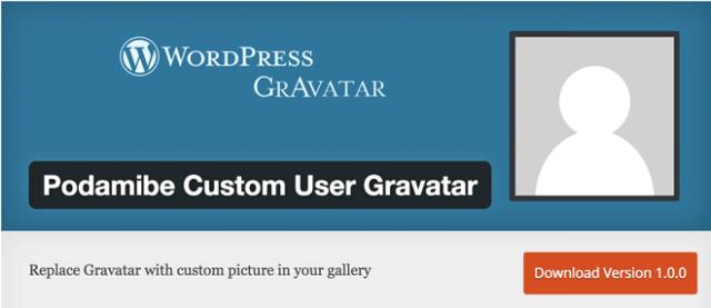 Podamibe Custom User Gravatar