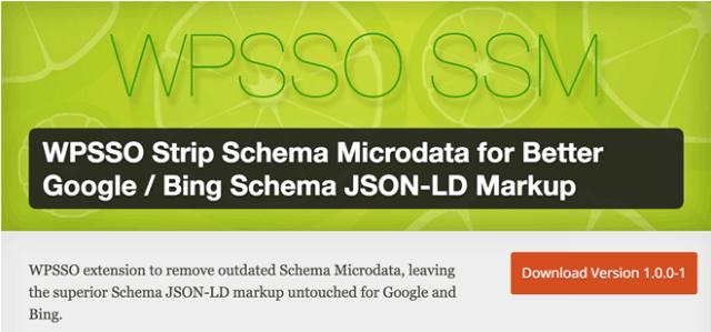 WPSSO Strip Schema Microdata for Better Google / Bing Schema JSON-LD Markup