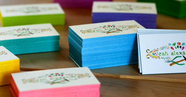50 hand crafted business cards for your inspiration noupe businesscards colored edges business cards cotton w640 colourmoves