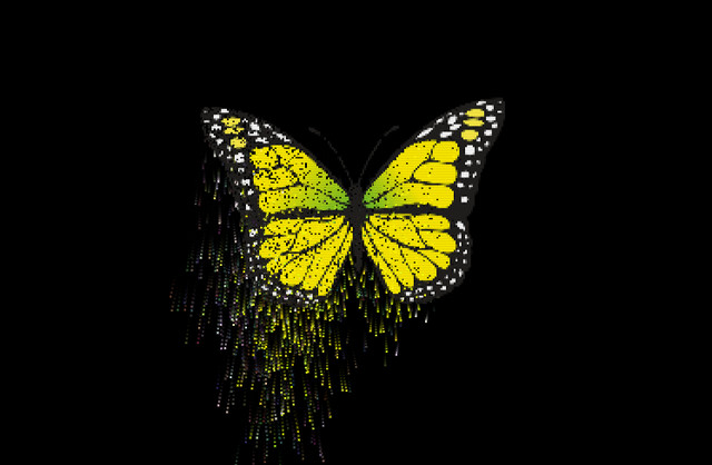 butterfly-particles