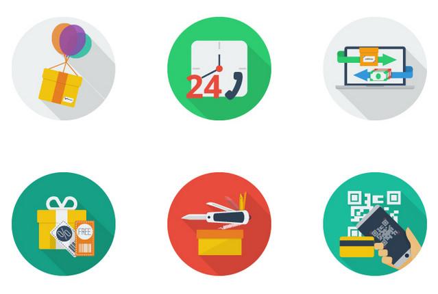 circular-flat-ecommerce-icons