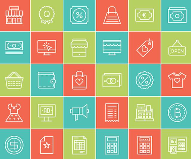 linear-ecommerce-icon-set