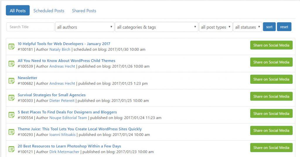 Sharing Individual Posts Made Easy With Blog2Social.