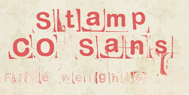 LRC Type Stamp CO Sans