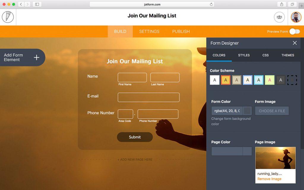 JotForm 4: Form Designer is now fully integrated into the Builder. (Screenshot: JotForm)