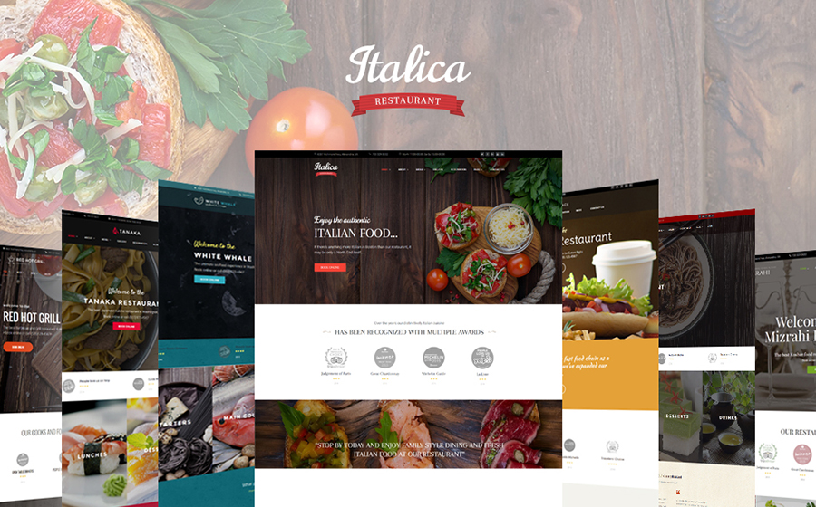WordPress Restaurant Theme Bundle