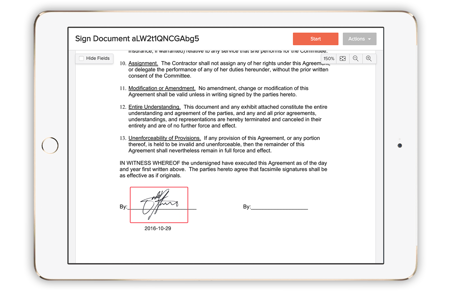 how to change email signature on ipad