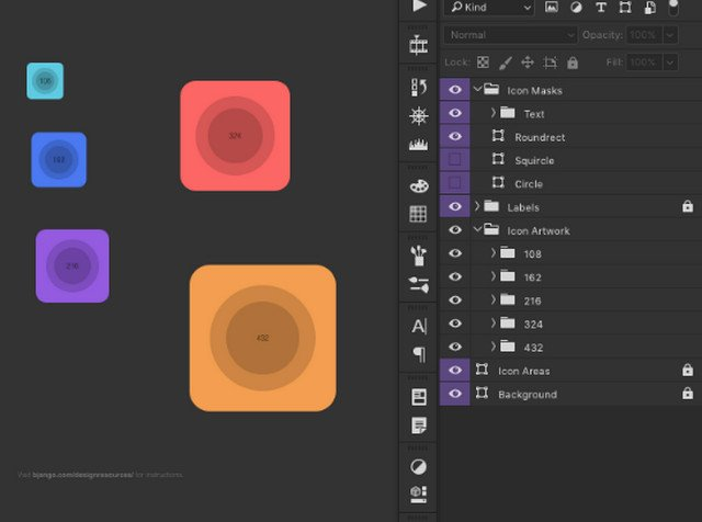 Android Adaptive Icon Templates For Photoshop Sketch Illustrator Affinity Designer