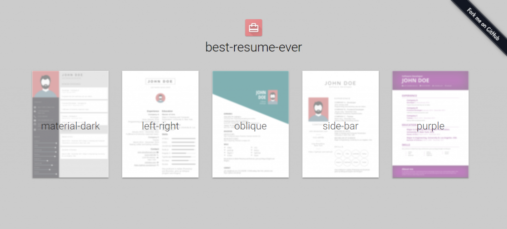 Tool Tip: Best Resume Ever, The Resume Generator For Developers