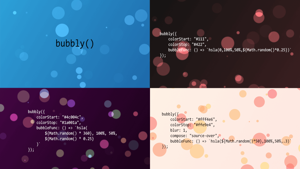 Bubbly Backgrounds: Moving Backgrounds for Your Website