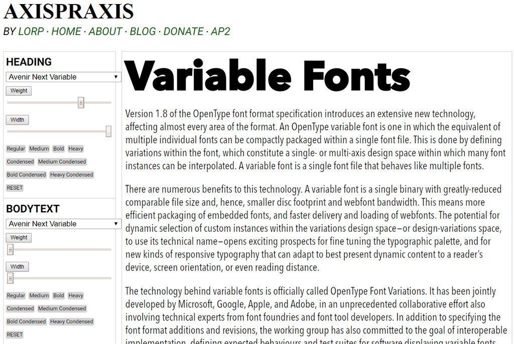 Variable Fonts are Now Available in Adobe and Chrome | NOUPE