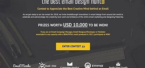 The Best Email Design Hunt 2017- header banner